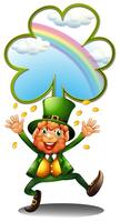 En man som bär grön med tokens vektor