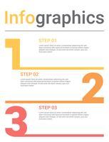 Infografik-Diagramm mit 3 Schritten, Optionen oder Prozessen. Vektorgeschäftsschablone für Darstellung. Visualisierung von Geschäftsdaten.