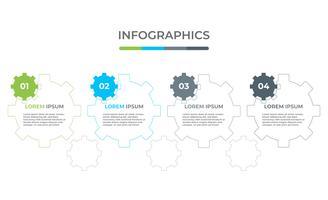 Infografisk företagsmall med 3 alternativ.