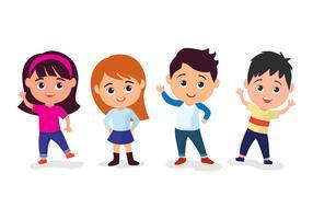 Kinder Zeichensatz vektor