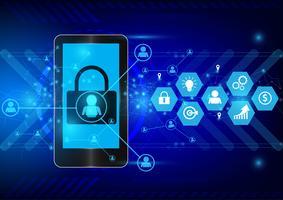 Digitaltechnik und Business-Konzept. Vektor Hintergrund