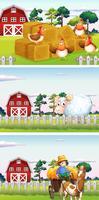 Landwirt und Vieh in der Farm vektor