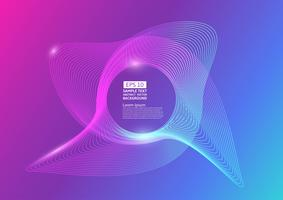 Bunte Farblinie bewegt abstraktes Hintergrunddesign wellenartig. Vektor-Illustration