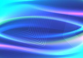 Blaue Farbwellen und geometrisches abstraktes Hintergrunddesign. Vektor-Illustration