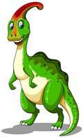 Grüner Dinosaurier, der glücklich schaut vektor