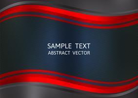 Roter und schwarzer Farbzusammenfassungs-Vektorhintergrund mit Kopienraum. Grafikdesign vektor
