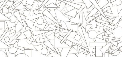 Abstrakt geometrisk formmönster. Chaotisk flödesbild bakgrund
