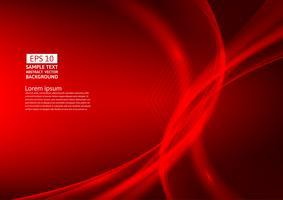 Rote Farbe bewegt abstraktes Hintergrunddesign wellenartig. Vektor-Illustration