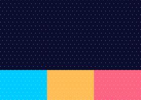 Set med abstrakt kors eller plus mönster sömlös blå, gul, rosa färg bakgrund minimal stil vektor
