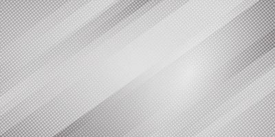 Abstrakt grå och vit gradient färg sneda linjer ränder bakgrund och prickar halvton stil. Geometrisk minimal mönster modern snygg textur
