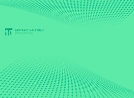 Abstraktes Muster punktiert Halbtonperspektivenhintergrund der grünen Farbe. vektor