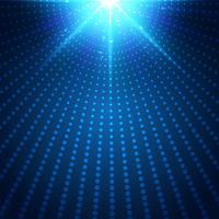 Futuristischer blauer Neonradiallichtexplosionseffekt der abstrakten Technologie auf dunklen Hintergrund. Digitale Elemente Kreise Halbton. vektor