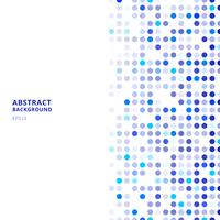 Kreativa designmallar abstrakt blå slumpmässiga prickar på vit bakgrund. vektor