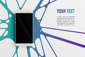 Färgglada smartphone mall för reklam, vektor illustration