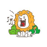 niedlicher kleiner Tiger-Cartoon-Gekritzelvektor