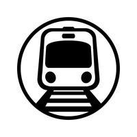 U-Bahn Light Rail Car Vektor Icon