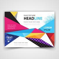 modern färgstark abstrakt broschyr vektor