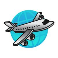 Flugzeug fliegen Vektor Icon