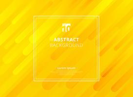 Geometrischer dynamischer Formhintergrund des abstrakten gelben Senfs mit weißem Rahmenraum für Text.