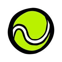 Tennisschläger & Tennisball vektor