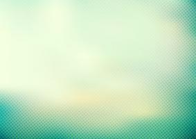 Abstrakt grön mint turkos färg slät bakgrund och prickar mönster halvtons stil. vektor