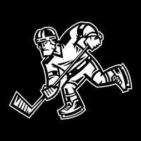 Hockey-Spieler-Vektor-Illustration vektor