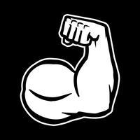 Stark Bodybuilder Biceps Flex Arm Vector Icon