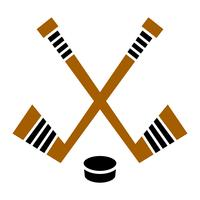 Hockeyschläger & Puck-Vektor-designHockeyschläger & Puck-Vektor-design vektor