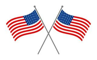 Amerikanische Flaggen vektor