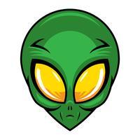 Alien Kopf Vektor-Illustration vektor
