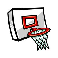 Tecknad vektor basket och nät