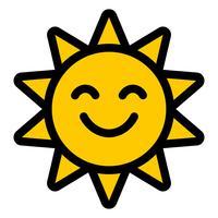 Cartoon Sonne vektor