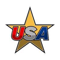 USA-Text-Vektor-Symbol vektor