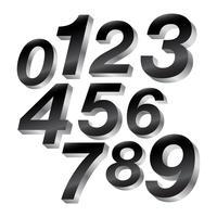 3-D-Blocknummern vektor