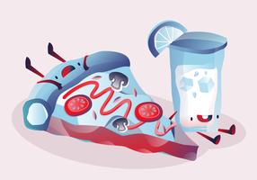 Nette Charakter-Sommer-Lebensmittel-Vektor-Illustration