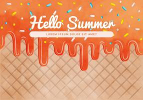 Vektor-Sommer-Eiscreme-Hintergrund vektor