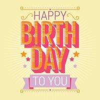 Alles- Gute zum Geburtstagtypographie-Vektor-Design