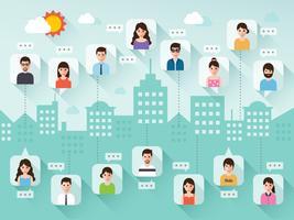 Menschen in sozialen Netzwerken. vektor