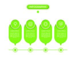 Infografik mit Schritten und Optionen