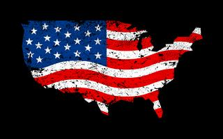 Amerika-Markierungsfahnenvektorikone vektor