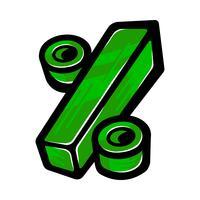 Prozentzeichen Mathe-Symbol, Prozent Grafik vektor