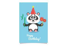 Niedliche Panda-Geburtstags-Karte vektor