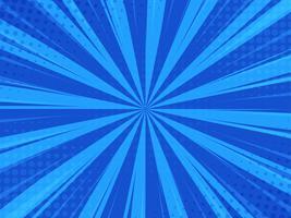 Blå abstrakt Comic Cartoon Sunlight Bakgrund. vektor