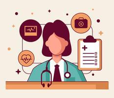 Hälso- och sjukvårdskaraktär vektor