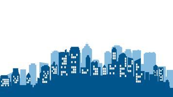 Stadtlandschaft. Moderne Gebäudearchitektur Städtisches Stadtbild. vektor