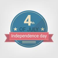 Flaches Design Independence Day Style Abzeichen vektor