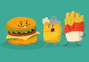 Lustige Sommerlebensmittel-Charakter-Vektor-Illustration