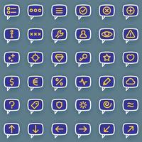 Meddelandeikoner vektor