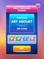 Game UI. Belönings köpeskärm. vektor