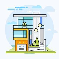 Färgglada moderna lägenhet bostadshus.